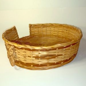 """Other - Tan/Brown Wicker Paper Plate Server Basket 11""""x 3"""""""